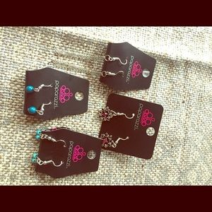 4 pair small earrings-various colors